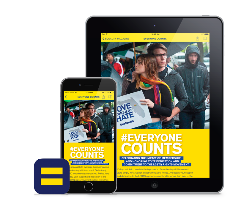 Human Rights Campaign's Equality Magazine – built with Twixl Publisher and TruAuthor