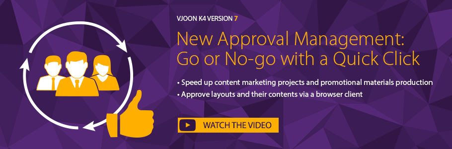 Approval Management – Time saving new feature in vjoon K4 version 7