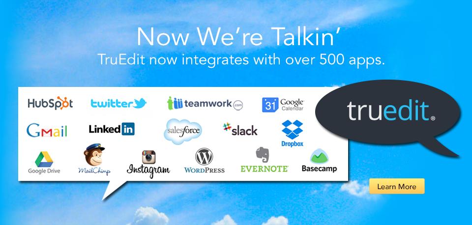 TruEdit Integration Banner